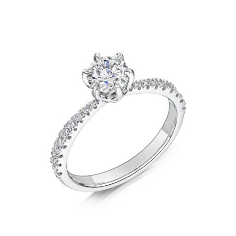 0.53 Carat GIA GVS Diamond solitaire 18ct White Gold Round brilliant Engagement Ring, MWSS-1174/033